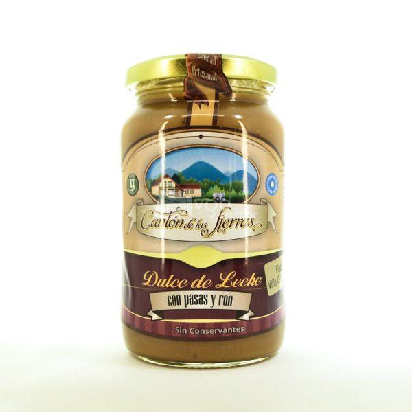 Villa General Belgrano - Cantón de Las Sierras - Dulce de Leche con Pasas y Ron 450 gr