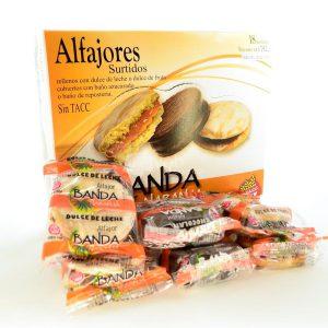 Villa General Belgrano - Banda Naranja - Alfajores Rellenos con Dulce de Leche o Dulce de Frutas con Baño Azucarado o de Repostería - Apto para Celiacos - Sin Gluten - Sin Tacc 2
