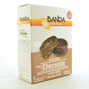 Villa General Belgrano - Banda Naranja - Alfajores de Chocolate con Rellenos con Dulce de Leche con Baño de Repostería - Apto para Celiacos - Sin Gluten - Sin Tacc 1