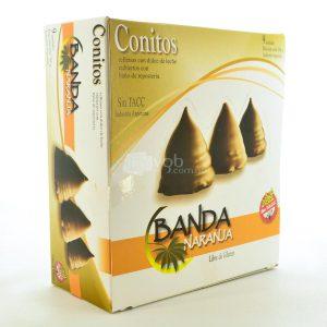 Villa General Belgrano - Banda Naranja - Conitos Rellenos con Dulce de Leche Cubiertos con Baño de Repostería - Apto para Celiacos - Sin Gluten - Sin Tacc 1