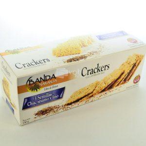 Villa General Belgrano - Banda Naranja - Crackers - Galletitas con Chía, Sésamo y Lino - Apto para Celiacos - Sin Gluten - Sin Tacc 1