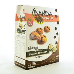 Villa General Belgrano - Banda Naranja - Galletitas de Coco con Chips de Chocolate - Apto para Celiacos - Sin Gluten - Sin Tacc 1