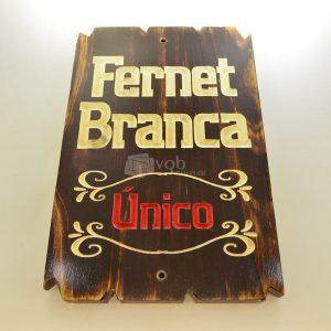 Villa General Belgrano - Besana - Cartel Tallado en Madera Fernet Branca 1