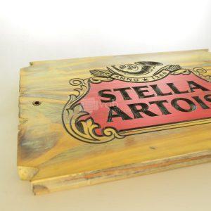Villa General Belgrano - Besana - Cartel Tallado en Madera Stella Artois 2