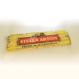 Villa General Belgrano - Besana - Cartel Tallado en Madera Stella Artois 4