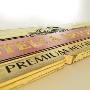 Villa General Belgrano - Besana - Cartel Tallado en Madera Stella Artois 5