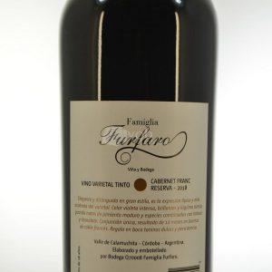 Villa General Belgrano - Famiglia Furfaro - Cabernet Franc Reserva - Vino Varietal Tinto 2
