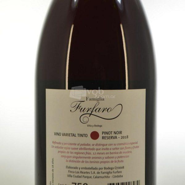 Villa General Belgrano - Famiglia Furfaro - Pinot Noir Reserva - Vino Varietal Tinto 2