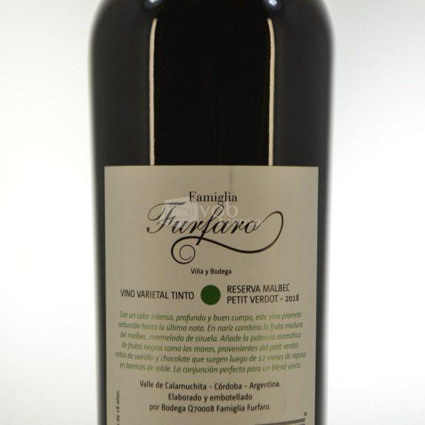Villa General Belgrano - Famiglia Furfaro - Reserva Malbec Petit Verdot - Vino Varietal Tinto 2