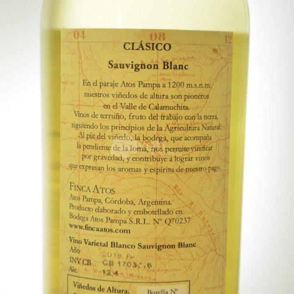 Villa General Belgrano - Finca Atos - Vino Sauvignon Blanc 3