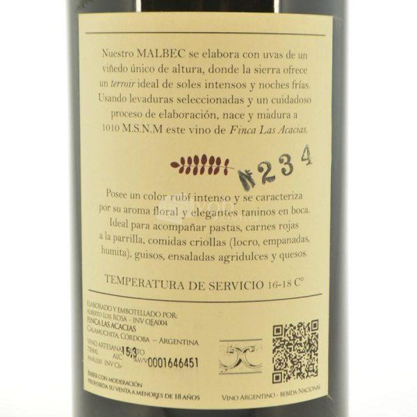 Villa General Belgrano - Finca Las Acacias - Vino Malbec 4