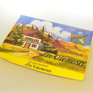 Villa General Belgrano - La Vienesa - Caja de 6 Alfajores de Dulce de Leche y Fruta con Baño de Repostería y Glaseados