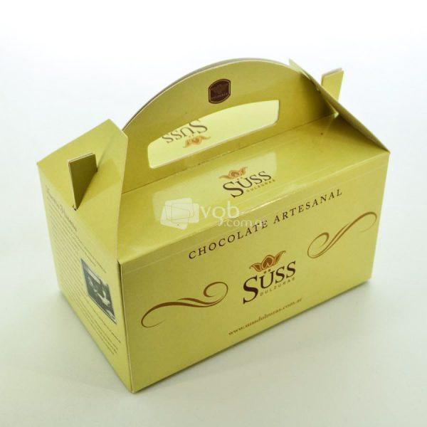 Villa General Belgrano - Süss - Caja de Chocolate Artesanal Negro con Leche, Negro Amargo y Blanco, con Almendras Avellanas y Maní 3