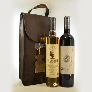 Villa General Belgrano - Vista Grande - 1 Vino Surmenage Orange Blend + 1 Vino Surmenage + Estuche de Cuero