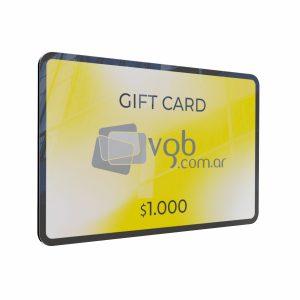 Villa General Belgrano - VGB - Gift Cards $1.000 - Tarjeta de regalo para compras