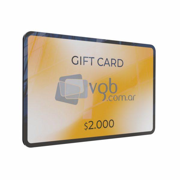 Villa General Belgrano - VGB - Gift Cards $2.000 - Tarjeta de regalo para compras