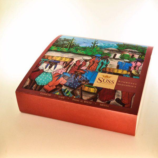 Villa General Belgrano - Süss - Caja de 16 Bombones Macizos de Chocolate Artesanal Negro y Blanco 2