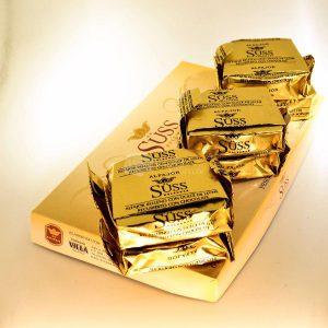 Villa General Belgrano - Süss - Caja de 6 Alfajores de Dulce de Leche Cubiertos de Chocolate Negro 1